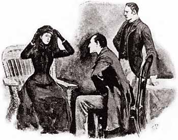 Holmes and Watson speak with Helen Stoner